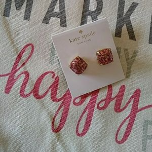 Kate Spade Pink & Gold Glitter Earrings